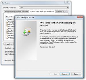 Certificate Import